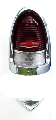 Photograph - 1955 Chevy Tail Light by Dale Powell