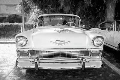 Photograph - 1956 Chevrolet Bel Air 2 Door 13a by Rich Franco