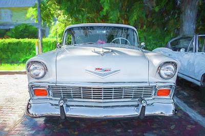 Photograph - 1956 Chevrolet Bel Air 2 Door  by Rich Franco