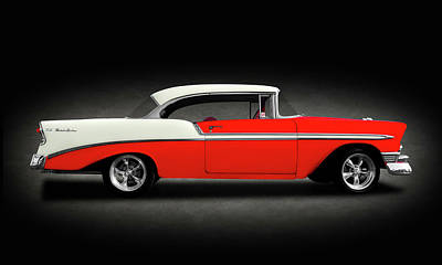 Photograph - 1956 Chevrolet Bel Air Sport Coupe  -  1956chevybelairhdtpspttext148997 by Frank J Benz