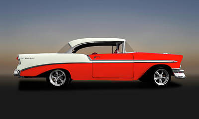 Photograph - 1956 Chevrolet Bel Air Sport Coupe  -  1956chevybelairsportcoupe148997 by Frank J Benz