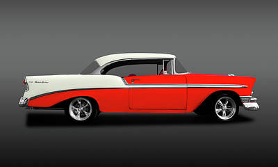Photograph - 1956 Chevrolet Bel Air Sport Coupe  -  56chevybelairsportcoupehdtpfa148997 by Frank J Benz