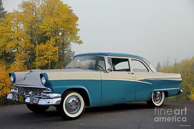 Mans Best Friend - 1956 Ford Customline Two-Door Sedan by Dave Koontz