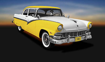 Photograph - 1956 Ford Fairlane Club Sedan  -  1956fordfairlaneclubsedan152972 by Frank J Benz