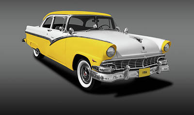 Photograph - 1956 Ford Fairlane Club Sedan  -  1956fordfairlaneclubsedgray152972 by Frank J Benz