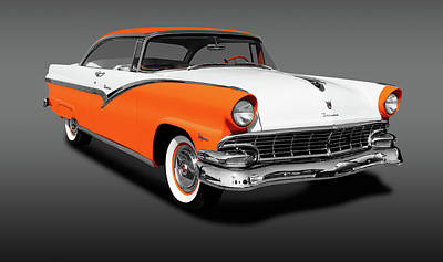 Photograph - 1956 Ford Fairlane Victoria Hardtop  -  1956fordfairlanevictoriagray152965 by Frank J Benz