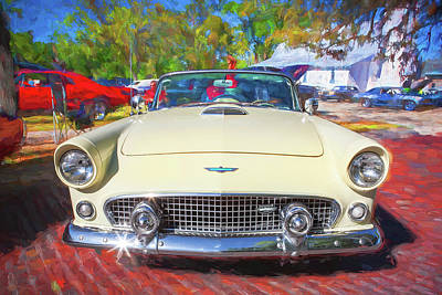 Photograph - 1956 Ford Thunderbird 013 by Rich Franco