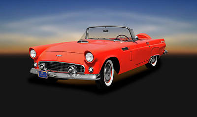 Photograph - 1956 Ford Thunderbird Convertible   -  1956fordtbirdconvertible167139 by Frank J Benz