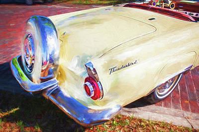 Photograph - 1956 Ford Thunderbird Painted 011 by Rich Franco