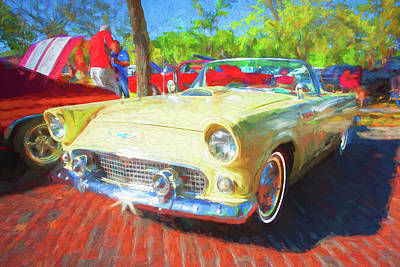 Photograph - 1956 Ford Thunderbird Painted 012 by Rich Franco