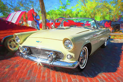 Photograph - 1956 Ford Thunderbird Painted 014 by Rich Franco