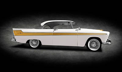 Photograph - 1956 Hemi-powered Plymouth Fury  -  1956plymouthhemifuryhdtpsptext149883 by Frank J Benz