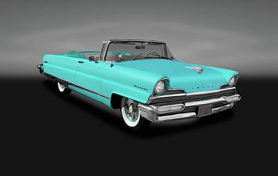 Photograph - 1956 Lincoln Premiere Convertible Sedan  -  1956lincolnpremierecvgray140802 by Frank J Benz
