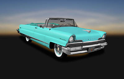 Photograph - 1956 Lincoln Premiere Convertible Sedan  - 1956lincolnpremiereconvertible140802 by Frank J Benz