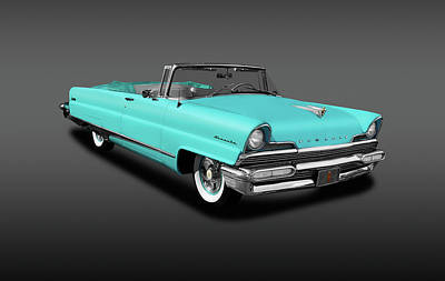 Photograph - 1956 Lincoln Premiere Convertible Sedan  - Convertible1956lincolnfa140802 by Frank J Benz