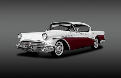 Photograph - 1957 Buick Super 4 Door Sedan Hardtop  -  1957buick4drhardtopgray156053 by Frank J Benz