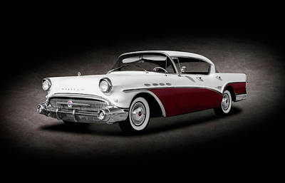 Photograph - 1957 Buick Super 4 Door Sedan Hardtop  -  1957buick4drhardtopsptext156053 by Frank J Benz