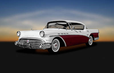 Photograph - 1957 Buick Super 4 Door Sedan Hardtop  -  1957buicksuperfourdoorhardtop156053 by Frank J Benz