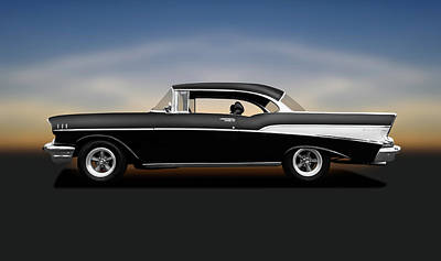 Photograph - 1957 Chevrolet Bel Air 2-door Hardtop Sport Coupe  -  1957chevroletbelairsportcoupe138150 by Frank J Benz