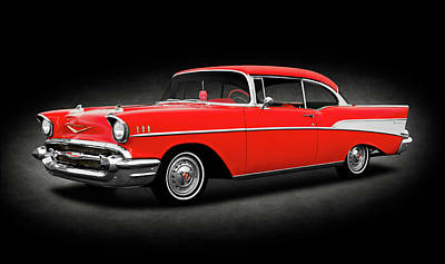 Photograph - 1957 Chevrolet Bel Air Sport Coupe  -  1957chevroletbelairsportcoupespttext172032 by Frank J Benz