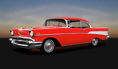 Photograph - 1957 Chevrolet Bel Air Sport Coupe  -  1957chevroletbelairsptcpe172032 by Frank J Benz