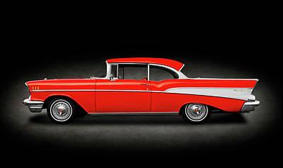 Photograph - 1957 Chevrolet Bel Air Sport Coupe  -  1957chevroletbelairsptcpespttext172041 by Frank J Benz