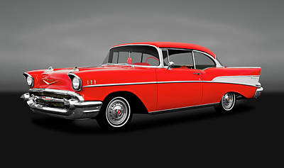 Photograph - 1957 Chevrolet Bel Air Sport Coupe  -  1957chevybelairsptcpegray172032 by Frank J Benz