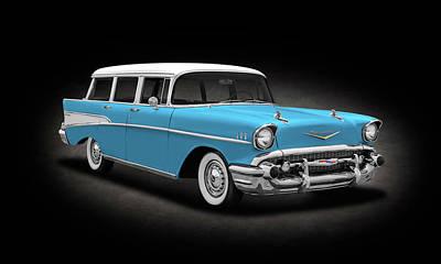 Photograph - 1957 Chevrolet Bel Air Townsman Station Wagon   -   1957chevytownsmanbelairspttext143742 by Frank J Benz