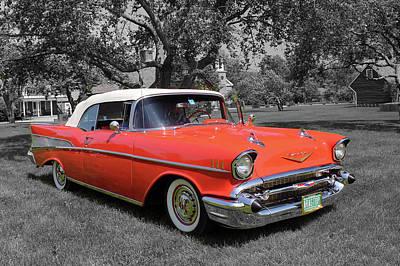 Wall Art - Photograph - 1957 Chevrolet by Rik Carlson