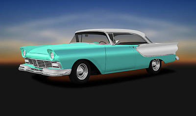 Photograph - 1957 Ford Fairlane Club Victoria, Model 63b  -  1957fordfairlaneclubvictoria156485 by Frank J Benz
