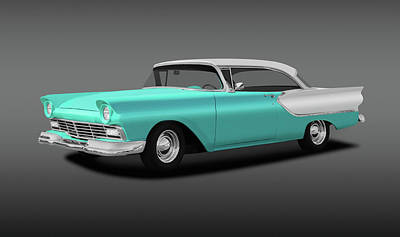 Photograph - 1957 Ford Fairlane Club Victoria, Model 63b  -  1957fordfairlaneclubvictoriafine156485 by Frank J Benz