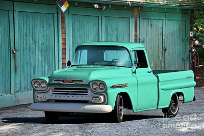 Antique Maps - 1958 Chevrolet Apache Fleetside Pickup by Dave Koontz