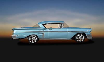 Photograph - 1958 Chevrolet Impala Hardtop  -  1958chevroletimpalahardtopsedan186087 by Frank J Benz