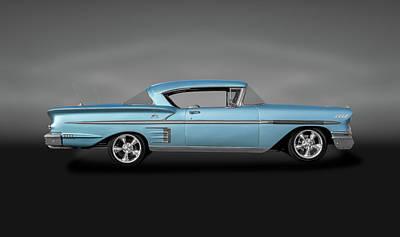 Photograph - 1958 Chevrolet Impala Hardtop  -  1958chevyimpalahardtopgray186087 by Frank J Benz
