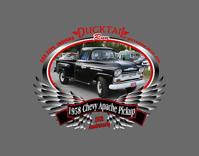 Photograph - 1958 Chevy Apache Pickup Fields by Mobile Event Photo Car Show Photography