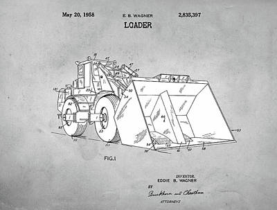 Drawing - 1958 Loader Patent by Dan Sproul