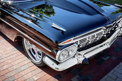 Photograph - 1959 Chevrolet Biscayne 002  Black by Rich Franco