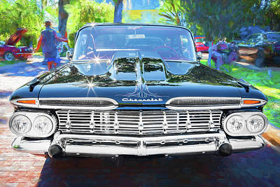 Photograph - 1959 Chevrolet Biscayne Painted 001  Black by Rich Franco