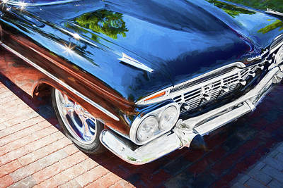 Photograph - 1959 Chevrolet Biscayne Painted 004  Black by Rich Franco