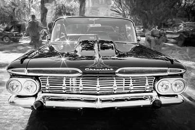 Photograph - 1959 Chevrolet Biscayne Painted Bw 003   by Rich Franco