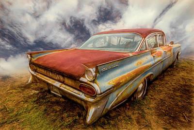 Photograph - 1959 Pontiac In Autumn Tones by Debra and Dave Vanderlaan