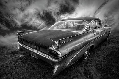 Pontiac Catalina Wall Art - Photograph - 1959 Pontiac In Black And White by Debra and Dave Vanderlaan