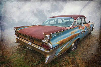 Photograph - 1959 Pontiac Textured by Debra and Dave Vanderlaan