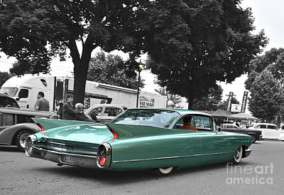Airplane Paintings - 1960 Caddy, Low and Slow by Ron Long