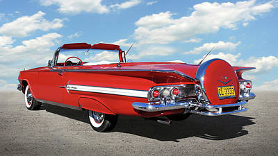 Photograph - 1960 Chevy Impala Convertible  by Mike McGlothlen