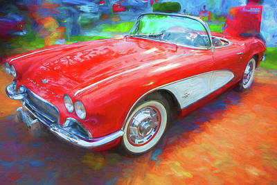 Photograph - 1961 Chevrolet Corvette Convertible 003 by Rich Franco