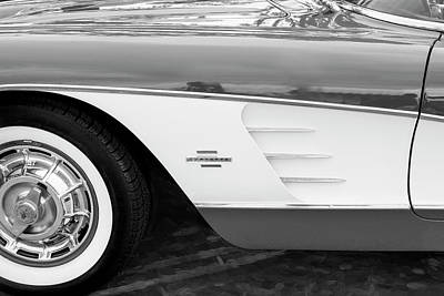 Photograph - 1961 Chevrolet Corvette Convertible 006 by Rich Franco