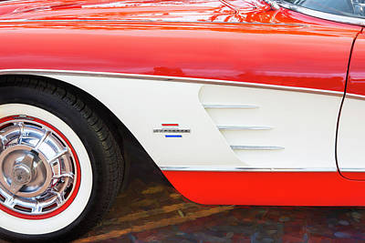 Photograph - 1961 Chevrolet Corvette Convertible 007 by Rich Franco