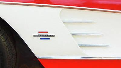 Photograph - 1961 Chevrolet Corvette Convertible 009 by Rich Franco