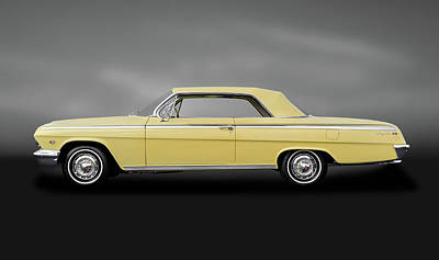 Photograph - 1962 Chevrolet Impala Super Sport 2 Door Hardtop  -  1962chevroletimpalassgray172073 by Frank J Benz